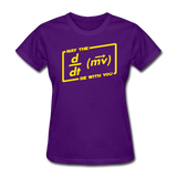 """May the Force Be With You"" - Women's T-Shirt purple / S - LabRatGifts - 3"