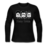 """Heavy Metals"" - Women's Long Sleeve T-Shirt black / S - LabRatGifts - 5"