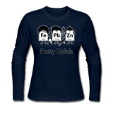 """Heavy Metals"" - Women's Long Sleeve T-Shirt navy / S - LabRatGifts - 1"