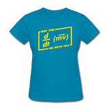 """May the Force Be With You"" - Women's T-Shirt turquoise / S - LabRatGifts - 6"