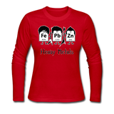 """Heavy Metals"" - Women's Long Sleeve T-Shirt red / S - LabRatGifts - 6"