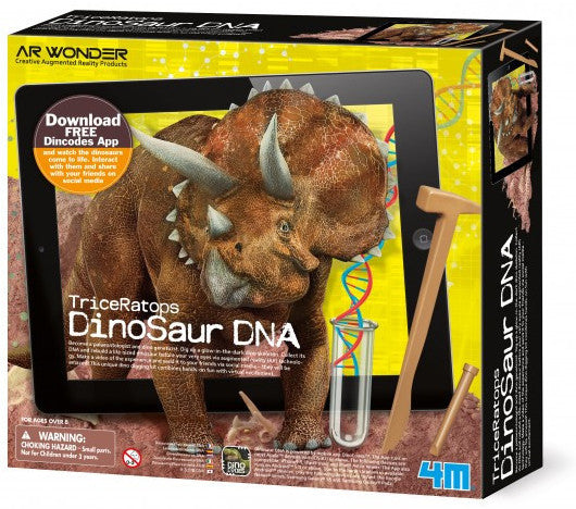 """Triceratops Dinosaur DNA"" - Science Kit  - LabRatGifts - 1"