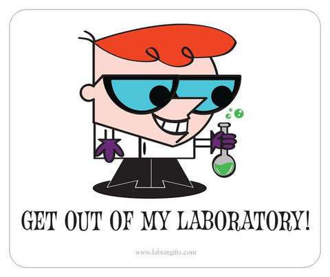 """Dexter - Get Out of My Laboratory"" - Mouse Pad Default Title - LabRatGifts"