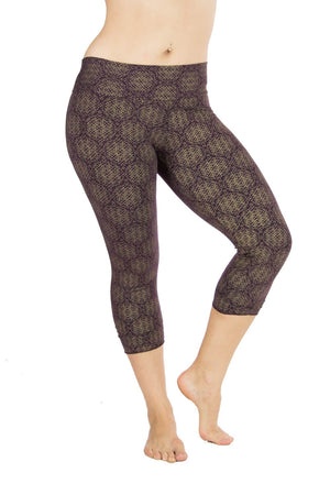 Malaya Yoga Tights with Amazonia Print