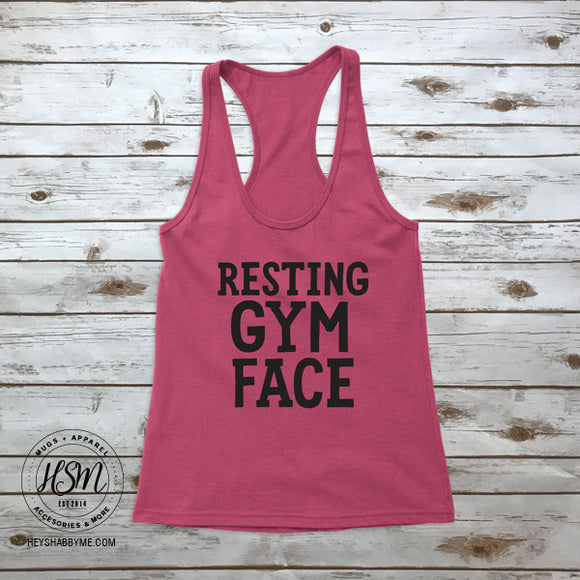 Resting Gym Face - Tank - Top