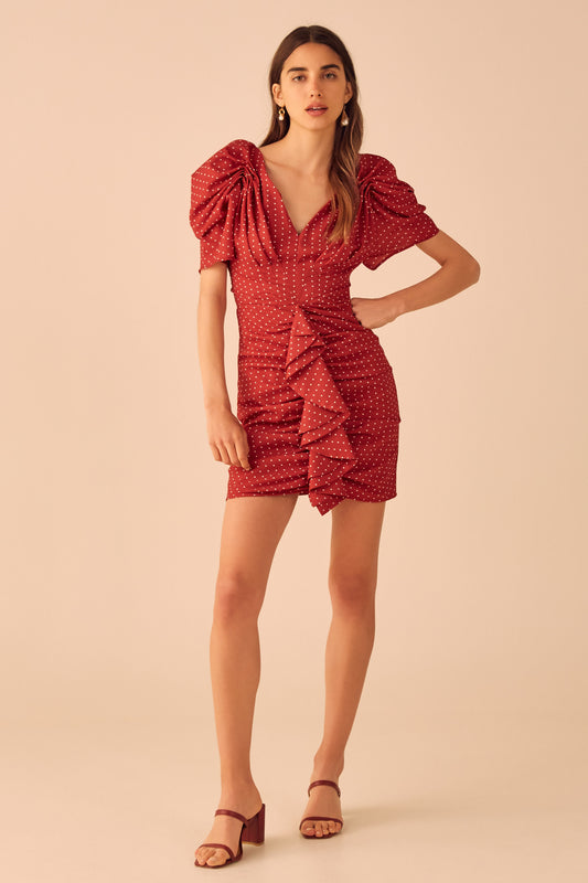VICES SHORT SLEEVE DRESS red spot