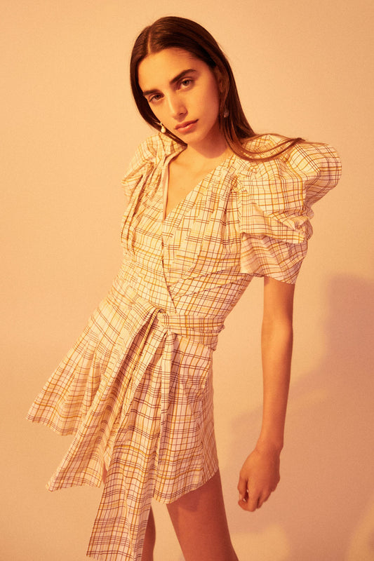 VICES PLAYSUIT white check