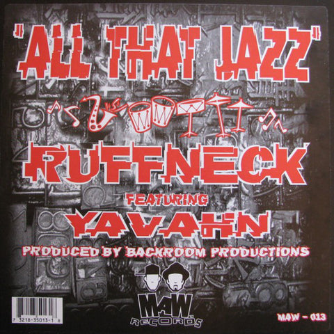 Maw-013 All That Jazz Ruffneck Feat. Yavahn