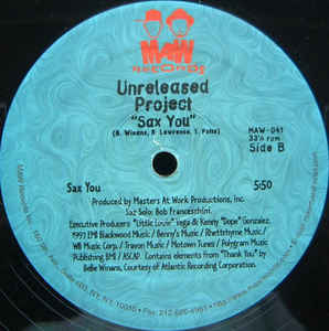 Maw-041 Wonderful Person (Brazilian Mix)/Sax You Unreleased Project (Masters At Work)