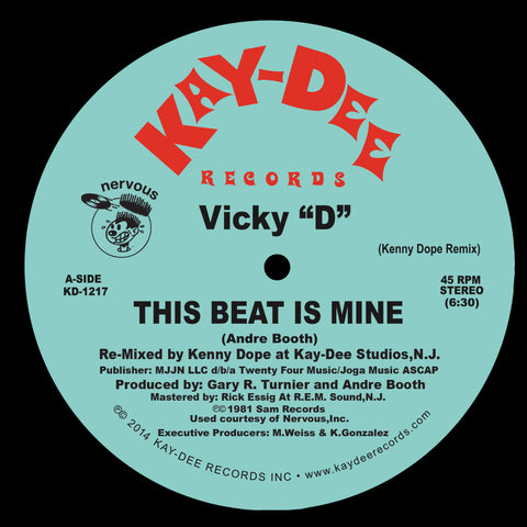 KD-1217 This Beat Is Mine - Vicky D Kenny Dope Mixes