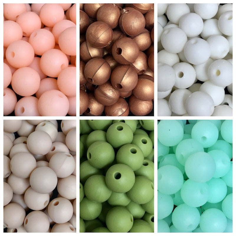 Silicone Round Bead 10mm - Qty: 100 Mixed - Bulk Pack