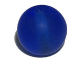 Dark Blue Frosted 8mm Round Qty: 10 beads