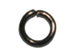 Black Nickel 8 x 1.4 mm Steel Jumprings Qty: 50
