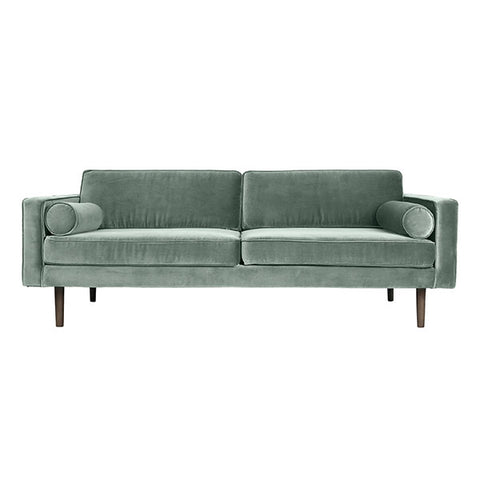 Velvet Sofa in Smoke Green