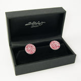 Sally Lees sterling silver cufflinks with Red aluminum Roses print