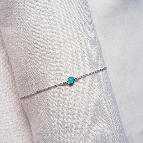 Ever Bracelet (Round) - Amazonite in 925 Silver