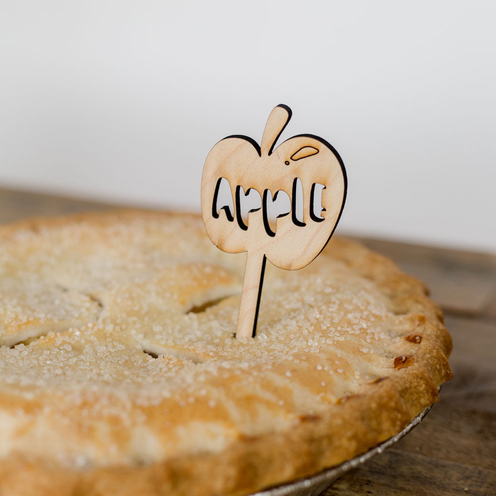Wooden Pie labels