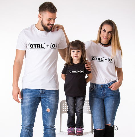 Ctrl+C Ctrl+V, Family Matching Set of Shirts