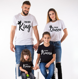 I'm Her King, I'm His Queen, I'm Their Prince, I'm Their Princess, Family Matching Set of Shirts