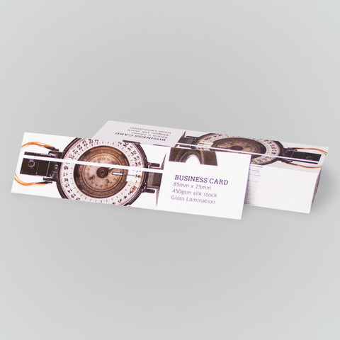 Mini Business Cards - 85mm x 25mm