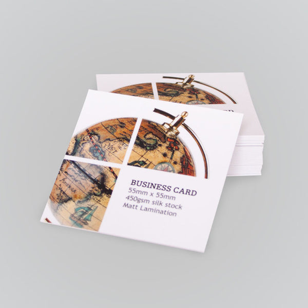 Square Business Cards - 55mm x 55mm