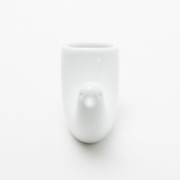 TOTTO Bird Toothpick Holder, White Hakusan Porcelain