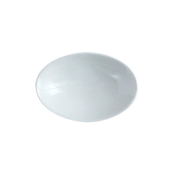 Small Oval Plate 7cm, White Kanezen
