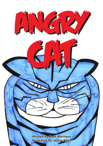 Angry Cat - pack of 6
