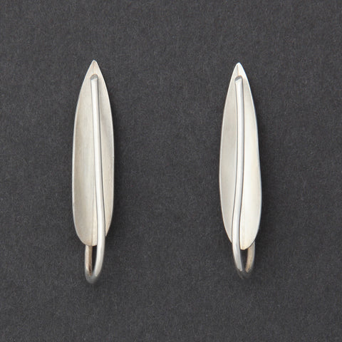 Sterling silver Olive Leaf earrings