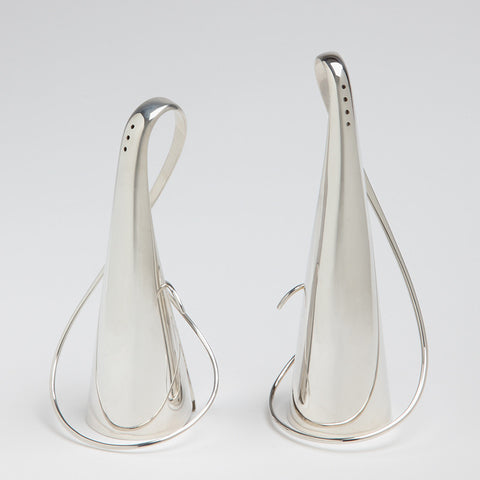 Sterling silver Garlic tops salt and pepper shakers