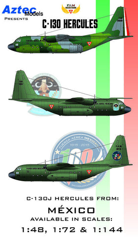 D-058 Mexican C-130 Hercules (laser print decal - will back in stock later)