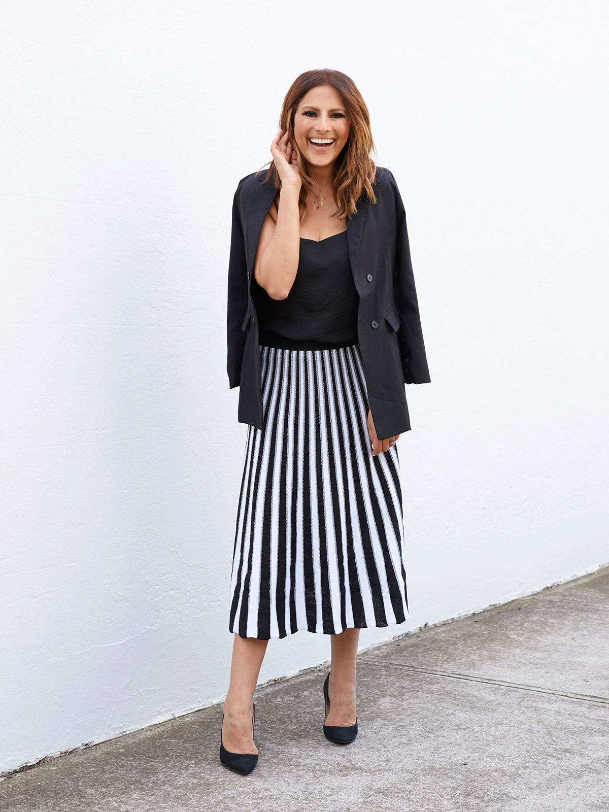 THE WILD HEART BLACK AND WHITE SKIRT