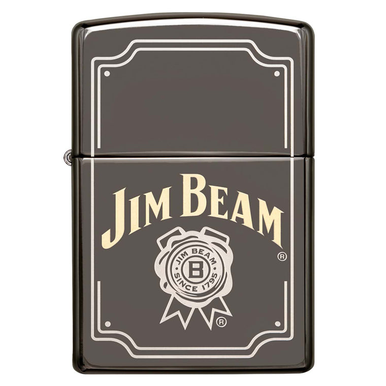 Zippo Black Ice Jim Beam Logo Two Tone