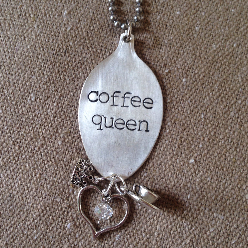 coffee queen spoon necklace