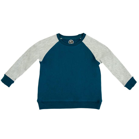 lil tot - crewneck - sweater- moroccan/grey