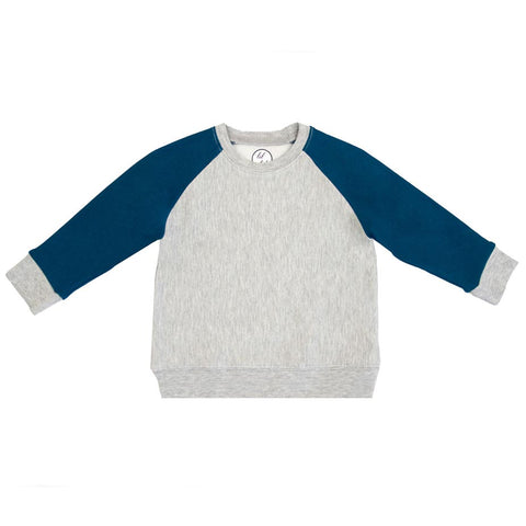 lil tot - crewneck - sweater - grey/ moroccan