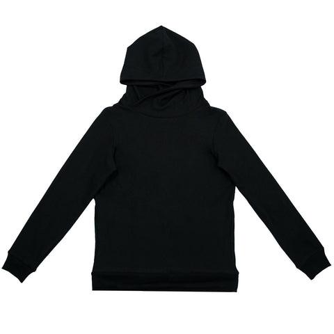 Cloutier - womens - hoodie - black