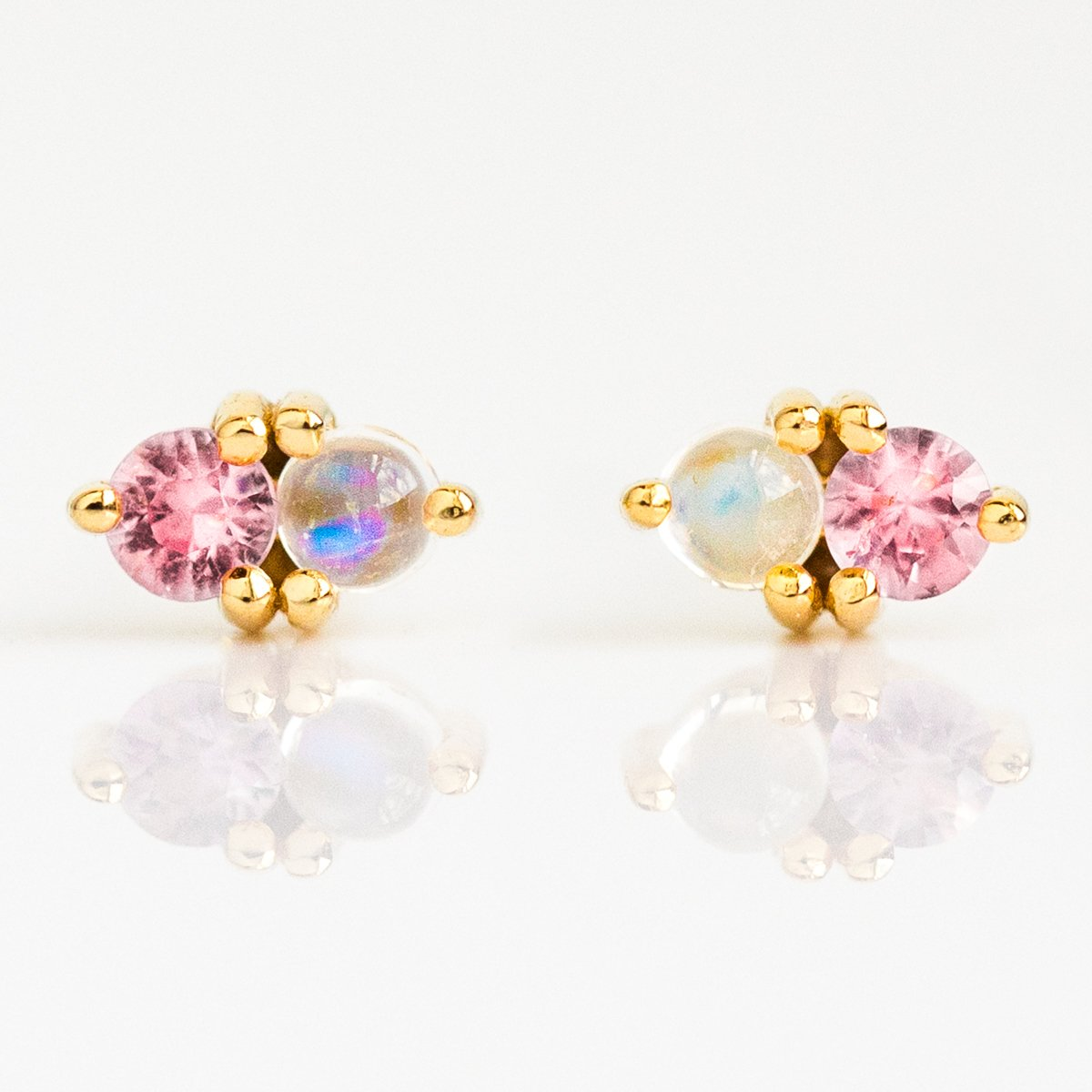 Local Eclectic Pink Sapphire Amp Rainbow Moonstone Charmer