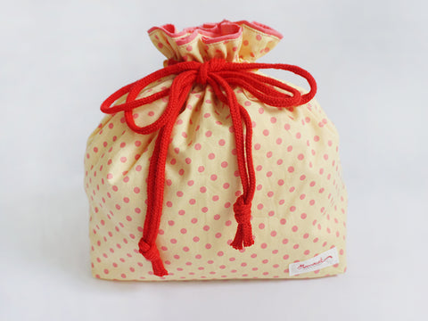 Drawstring Pouch (Large) Sweet Dot