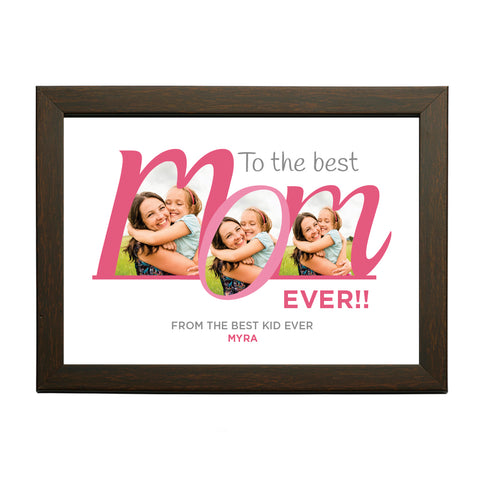 """Best MoM Ever"" Personalised Photo Frame"