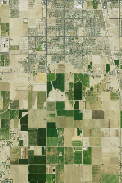 Bakersfield California Satellite Poster Map