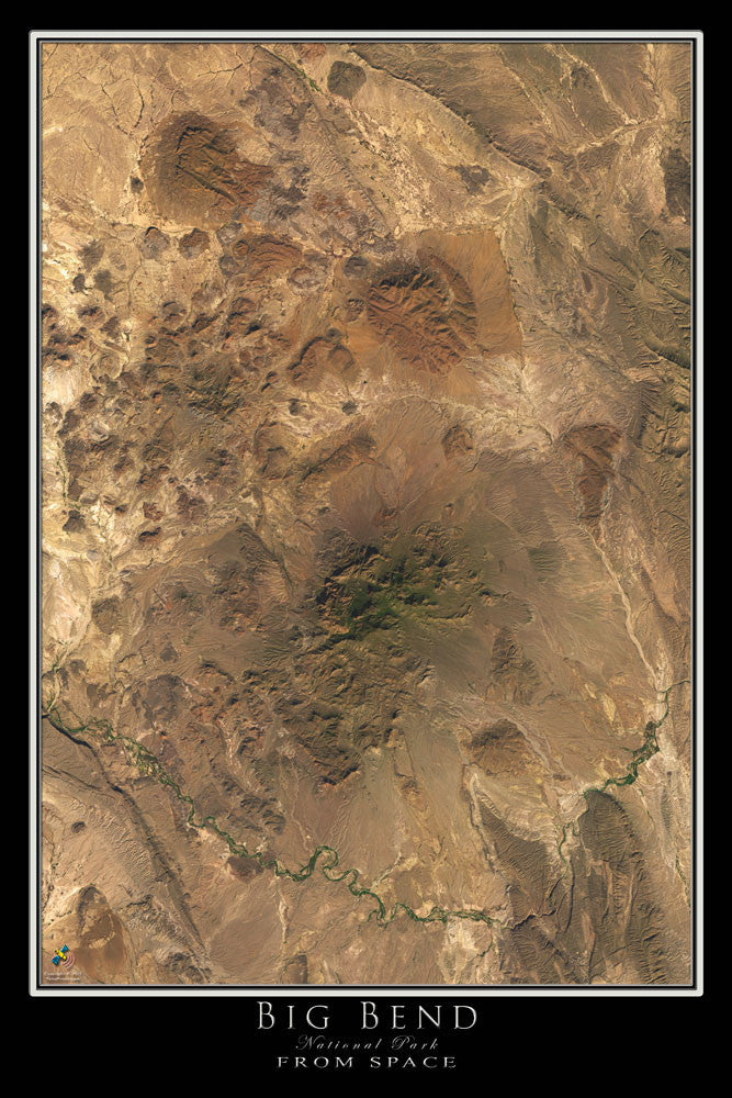 Big Bend National Park Texas Satellite Poster Map - TerraPrints.com
