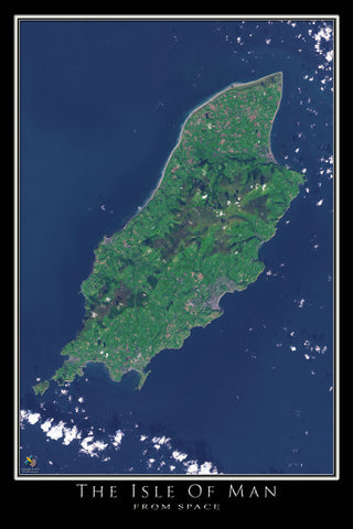 Isle Of Man Satellite Poster Map by TerraPrints.com. Available in multiple sizes with free shipping in the USA.