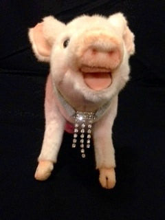 Silver Cascade Rhinestone Necklace - Snort Life, Mini Pig Clothes