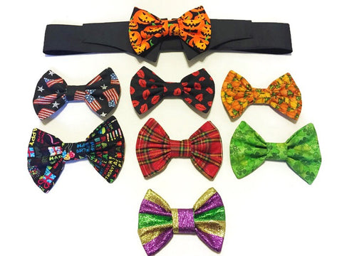 Holiday Variety Bow Ties & Shirt Collar Set - Snort Life  - 1