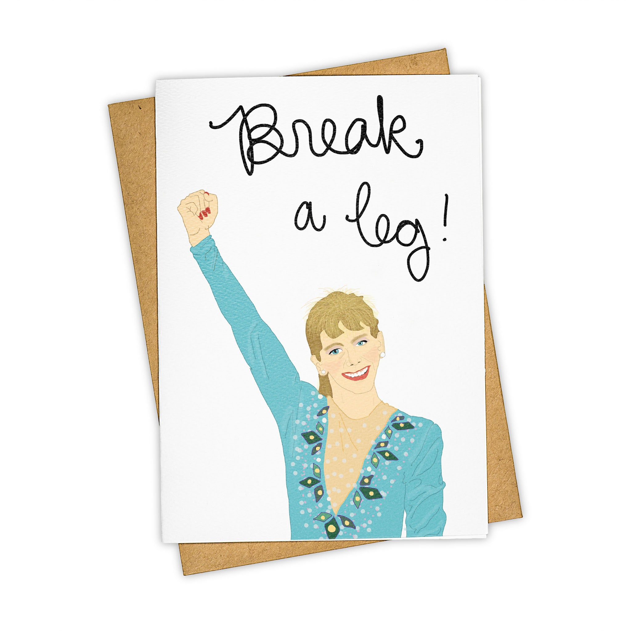 TAY HAM Tonya Harding Break A Leg Olympics Greeting Card