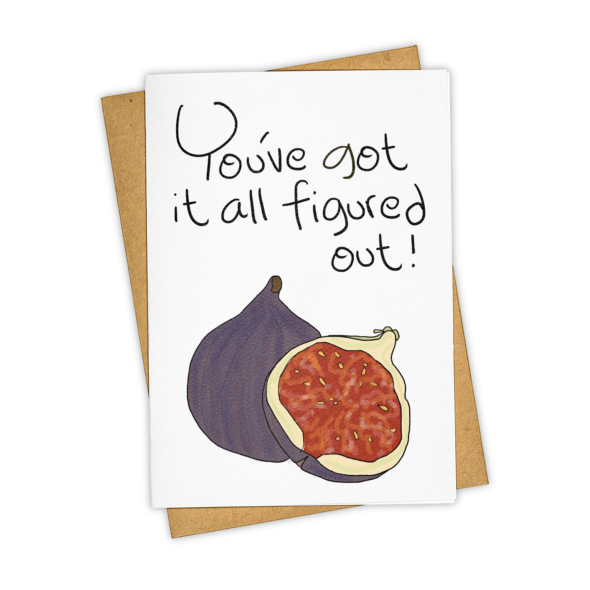 TAY HAM Foodie Epicurious Fig Greeting Card