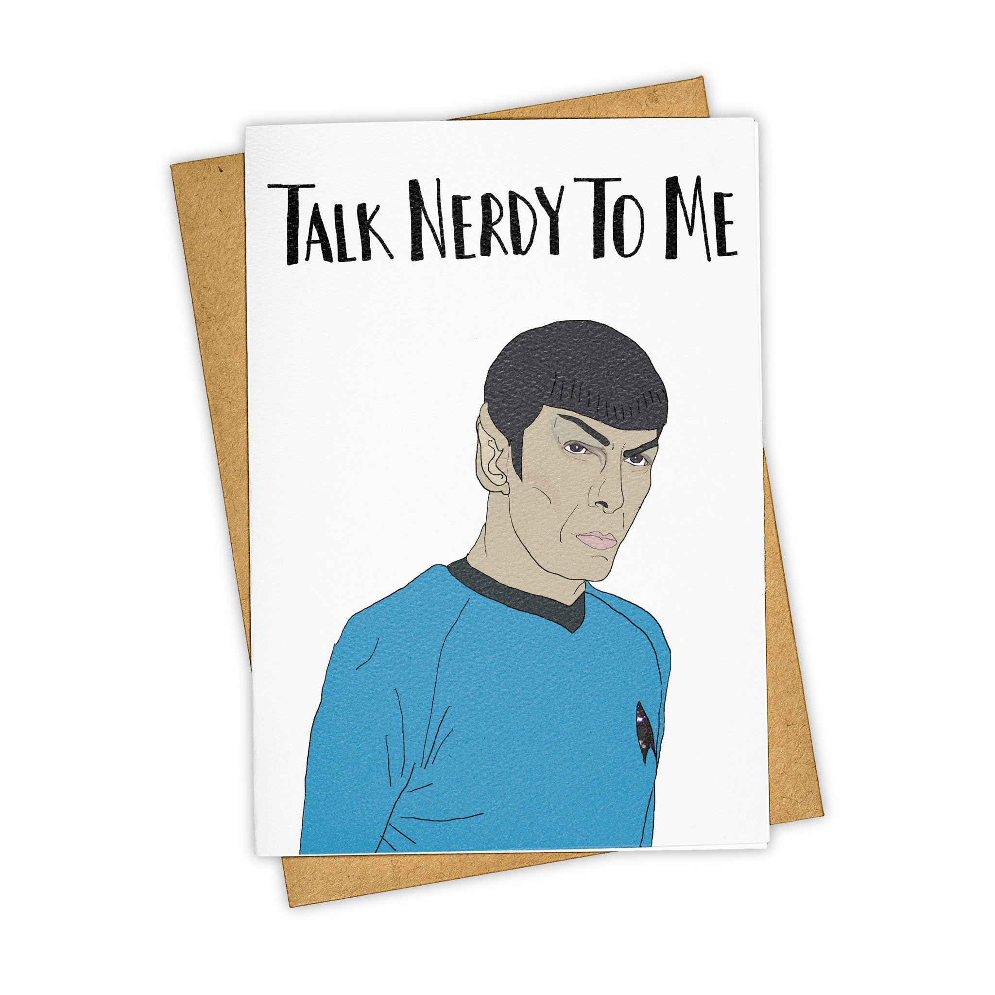 TAY HAM Spock Star Trek Nerd Greeting Card