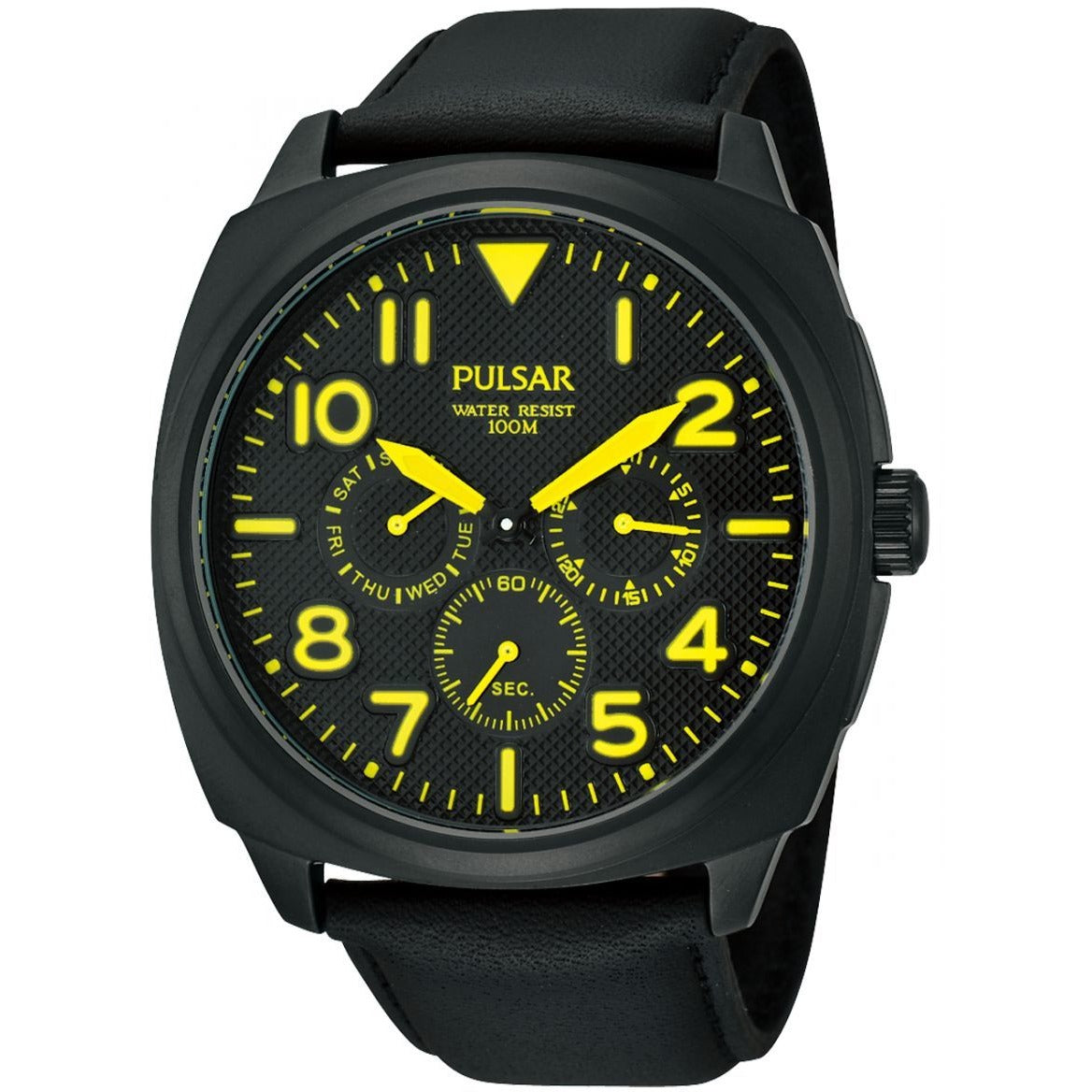 Pulsar Casual Watch For Men Analog Leather - PP6077
