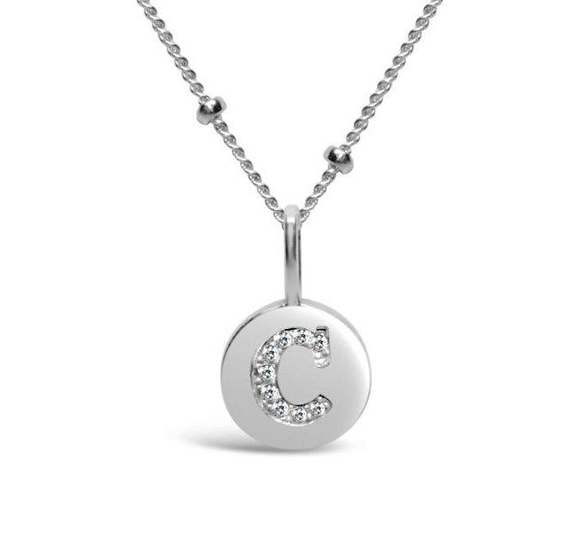 Love Letters Pave Necklaces